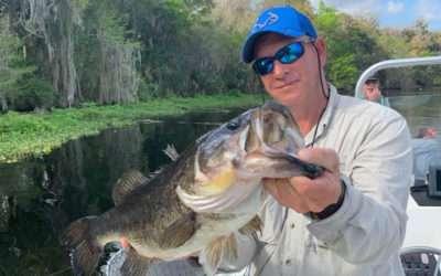 April Trophy Bass Fishing on Rodman Reservoir in North Florida